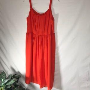 Ann Taylor Loft orange dress. Size  14 petite.